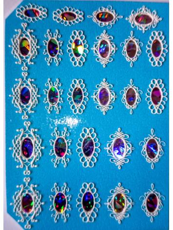 3D Jewelry sticker №13