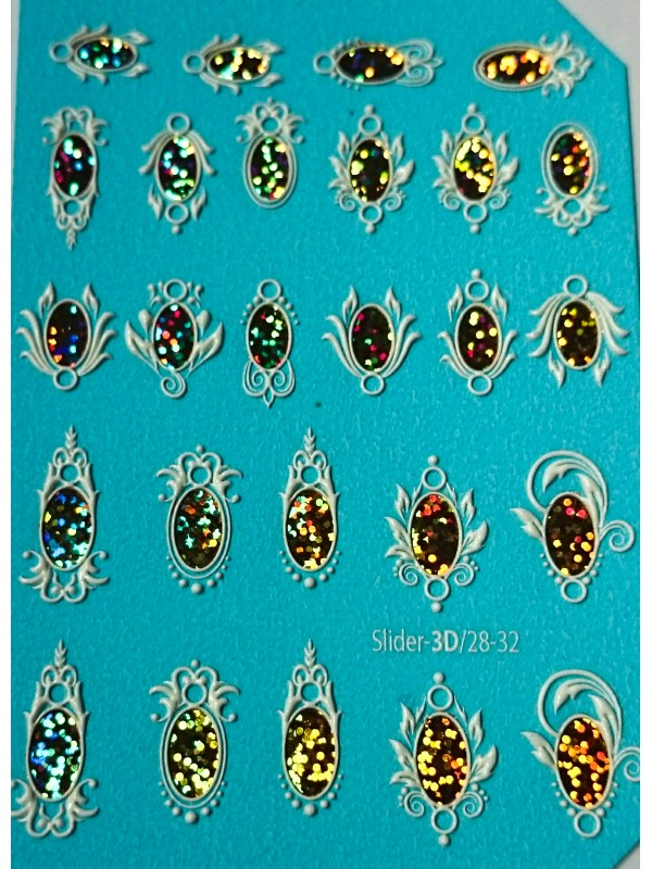 3D Jewelry sticker №28