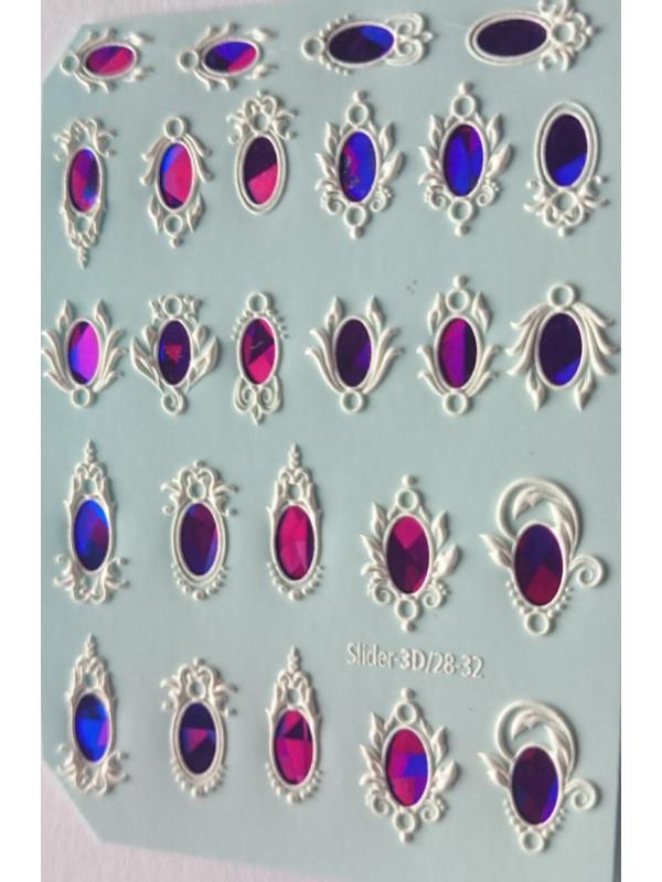 3D Jewelry sticker №32