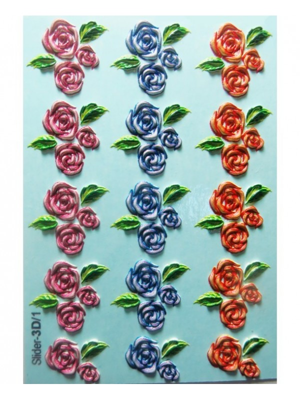 3D Flower Sticker №01