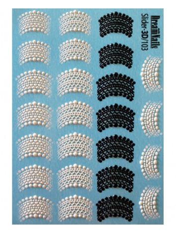 3D Lace sticker №103