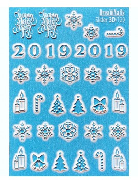 3D Сhristmas sticker №129