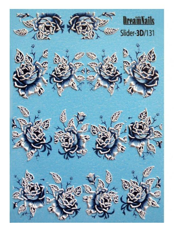 3D Flower stikers №131