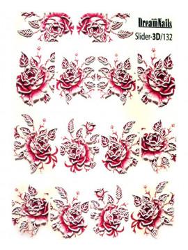 3D Flower stickers №132