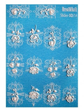 3D Flower stickers №141