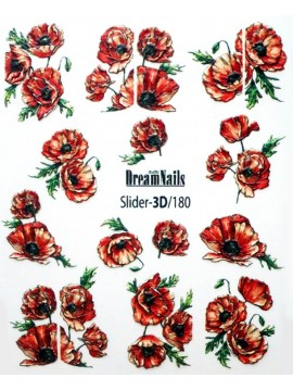 3D Flower stickers №180
