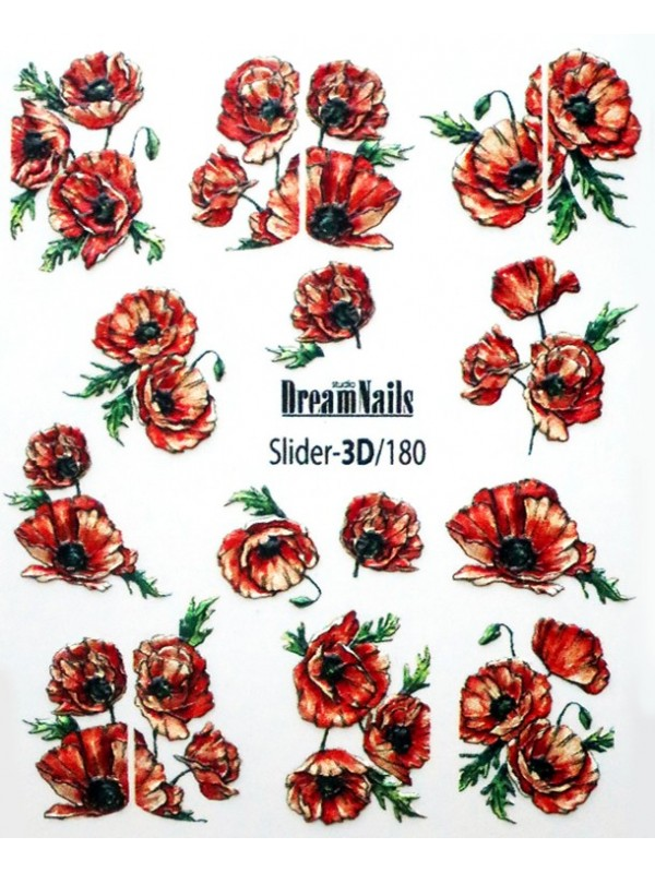 3D Flower stickers №180