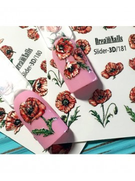 3D Flower sticker №181
