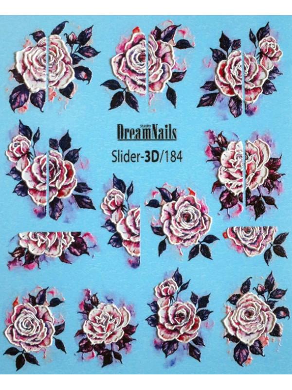 3D Flower sticker №184