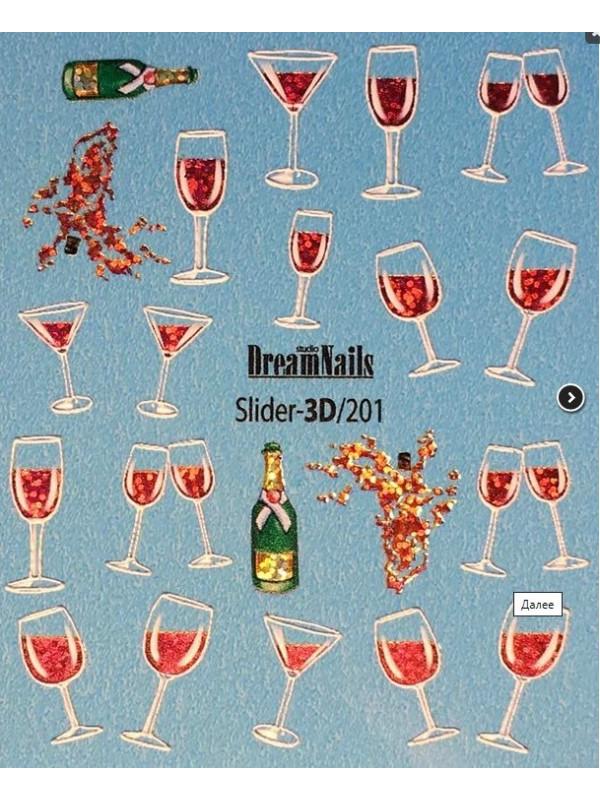 3D sticker №201