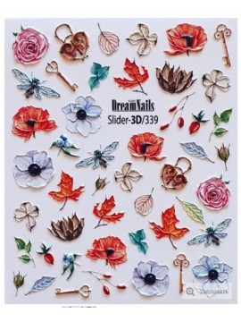 3D Flower sticker  №339