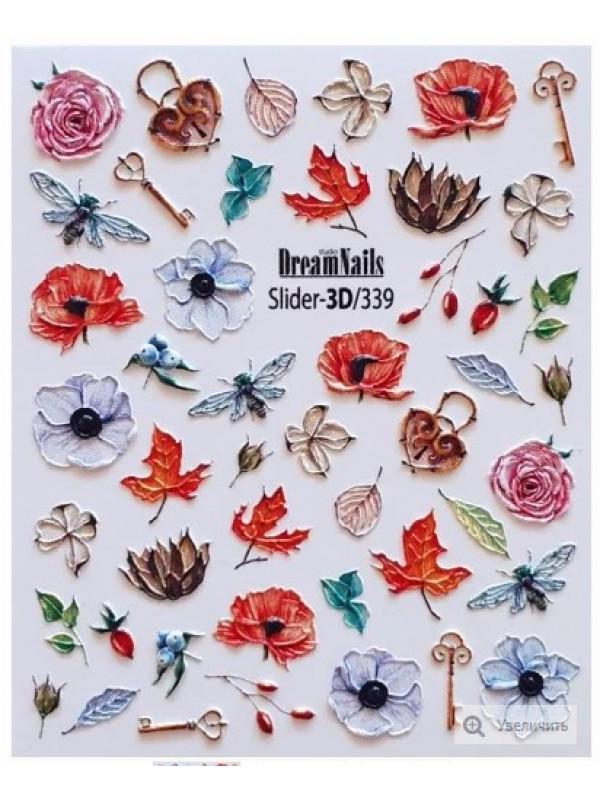 3D Flower sticker  №339