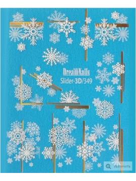3D Christmas sticker №349