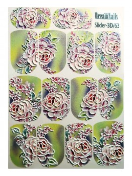 3D Flower sticker №63
