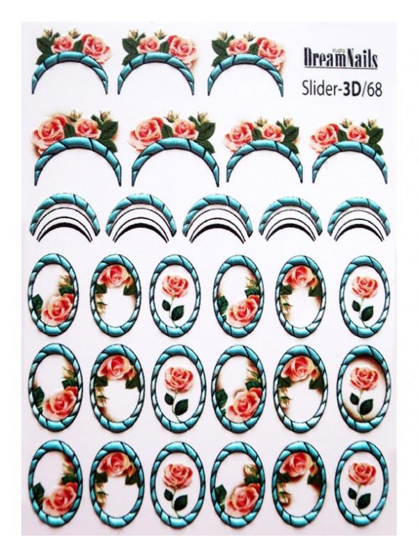 3D Flower sticker №68