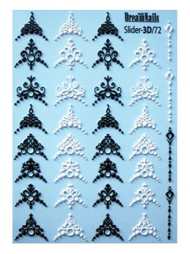 3D Lace stickers №72