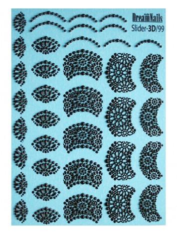 3D Lace sticker №99