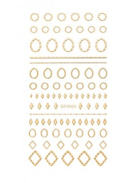 Gold flexible stickers №04