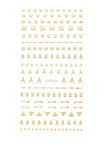 Gold flexible stickers №05