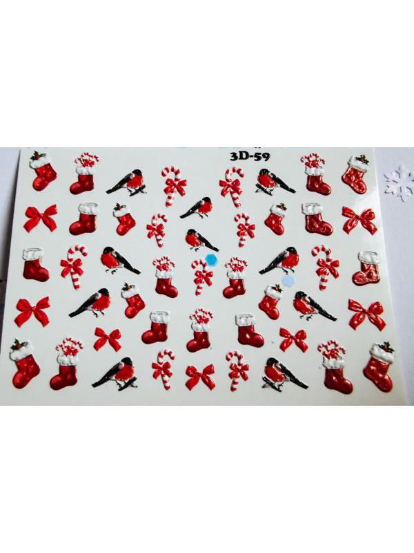 3D Christmas sticker №62
