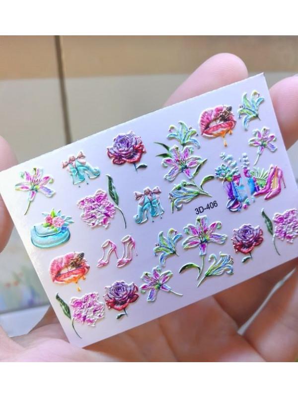 3D sticker №406