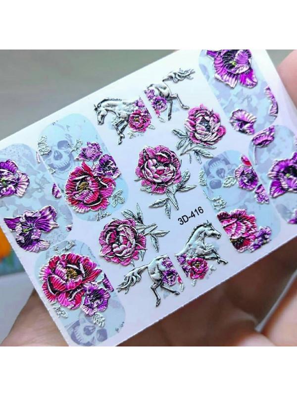 3D sticker №416