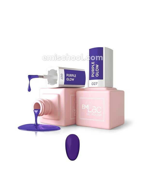 E.MiLac Purple Glow №27, 9 ml