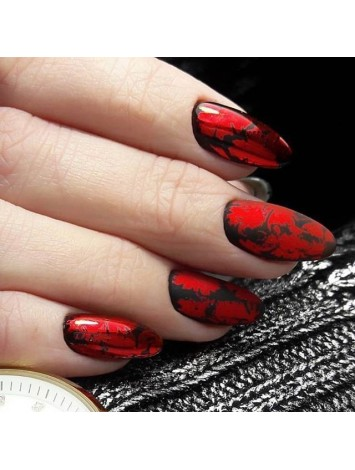 "Red Foils for ""Crackled"" Effect"