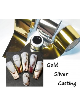 Black  Gel Paint and  3m  Silver Gold Foils for Casting