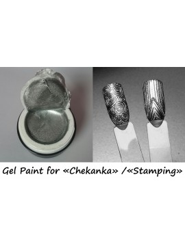 "Silver Gel paint for ""Chekanka"""
