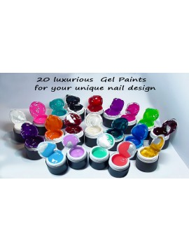 20 pcs Set of  Gel Paints