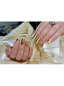 Gold Gel Paint for gold casting + 1m gold foil
