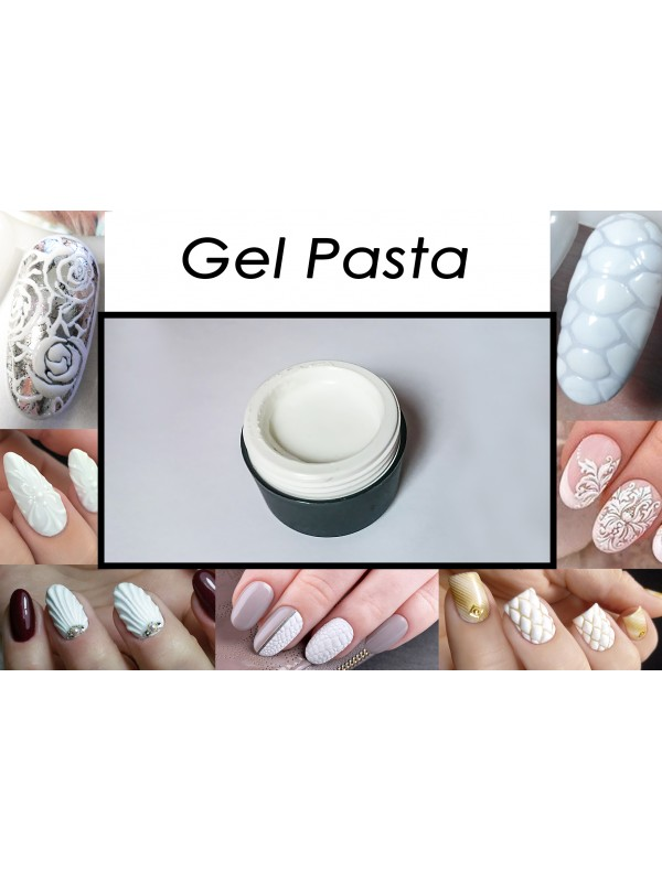 3D White Gel Pasta for Volume Textures