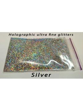 Silver Holographic Mirror Ultra Fine Glitters, 5g