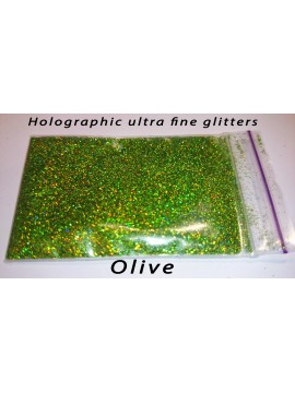 Olive Holographic Mirror Ultra Fine Glitters, 5g