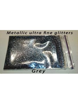 Grey Metallic Mirror Ultra Fine Glitters, 5g