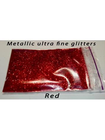 Red Metallic Mirror Glitters, 5g №37