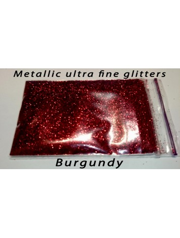 Burgundy Metallic Mirror Glitters, 5g №38