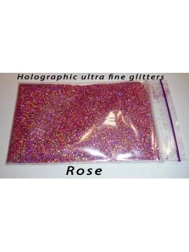 Rose Holographic Mirror Ultra Fine Glitters, 5g