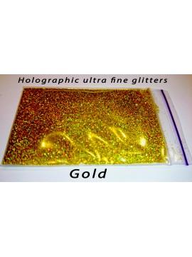 Gold Holographic Mirror Ultra Fine Glitters, 5g