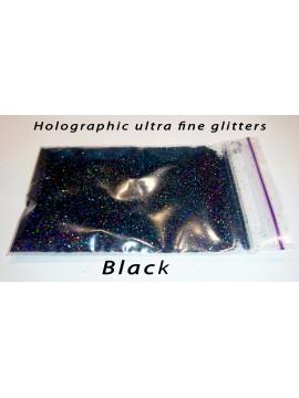 Black Holographic Mirror Ultra Fine Glitters, 5g