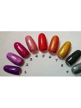 Set of Holographic Mirror Ultra Fine Glitters, 5g