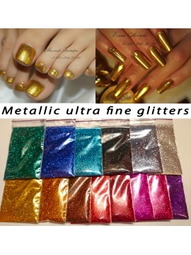 Set of  Metallic Mirror Ultra Fine Glitters