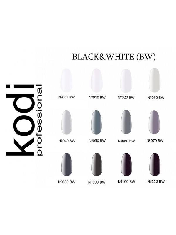 Black&White Kodi Gel Polish,  8 ml