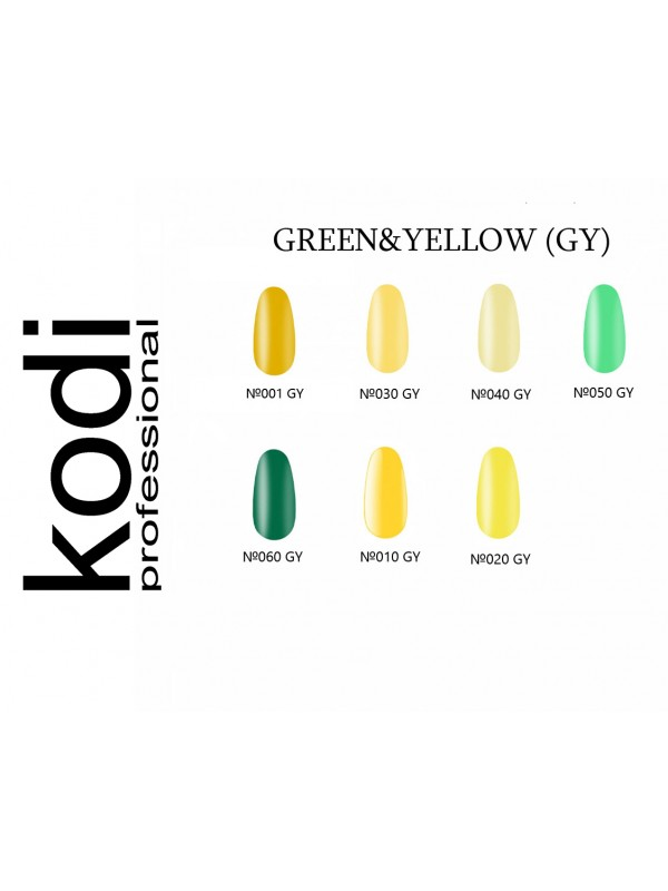 Yellow&Green Kodi Gel Polish,  8 ml