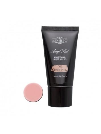 Komilfo Acryl Gel №005 Crepe Pink , 30 ml/ 60 ml