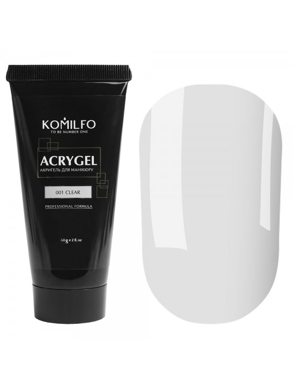 Komilfo AcrylGel №001 Clear , 30 ml/ 60 ml