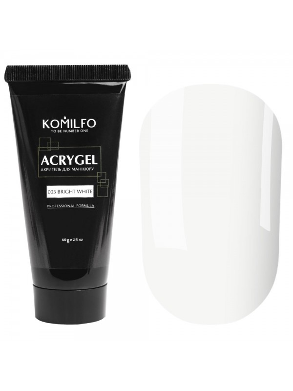 Komilfo AcrylGel №003 Bright White, 30 ml/ 60 ml