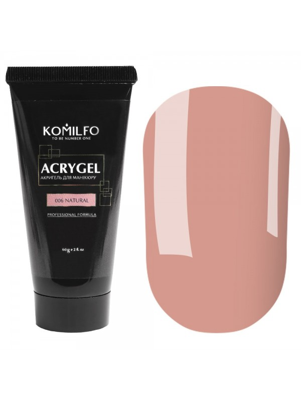 Komilfo Acryl Gel №006 Natural , 30 ml/ 60 ml