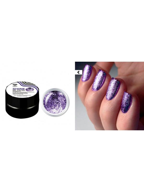 Purple Flakes Shine Gel Polish №10 , 5 ml